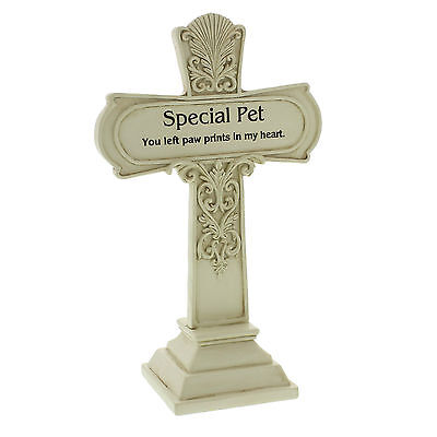 Graveside Memorial Cross 19cm Special Pet Tribute Grave Ornament