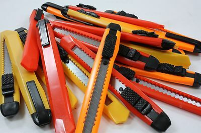 Lot Of 20 Snap-Off Knives Box Cutter Utility Knife 8-Section Blade Blades New