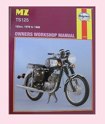 1270 Haynes Manual MZ  TS TS125 Alpine & TS125 Luxus 1976 to 1986