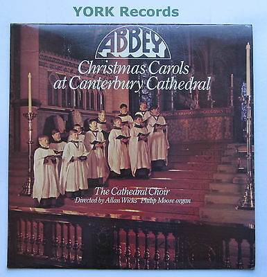 CHRISTMAS CAROLS AT CANTERBURY CATHEDRAL - Excellent Con LP Record Abbey XMX 670
