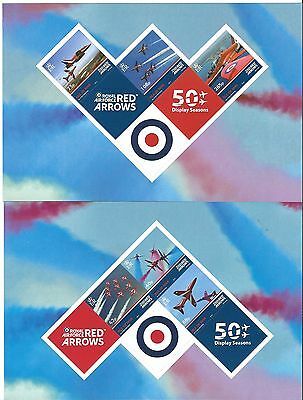 Isle Of Man 2014 Red Arrows Self Adhesive Set Of 6, 2 Panes Unmounted Mint, Mnh