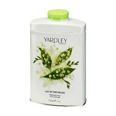Yardley London Lily of the Valley Perfumed Talc Powder 7oz 200g (new formula)