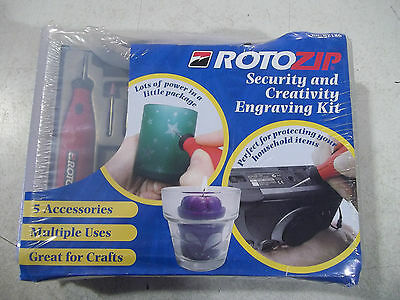 NEW Corded Electric RotoZip Security & Creativity Engraving Engraver Tool Kit