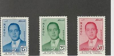 Morocco,  Postage Stamp, #16-18 Mint LH, 1957