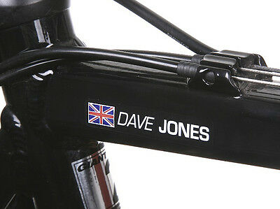Personalised Bike Frame Name Stickers Road Cycle Cycling Frame Helmet Decals
