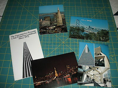 HTF Set of 4 Postcards w/Folder Transamerica Pyramid, SF Landmark-Graphics Print