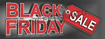 3'x8' BLACK FRIDAY SALE BANNER Outdoor Sign LARGE Retail Sales Thanksgiving Save