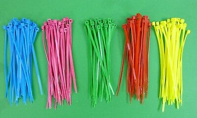 Lot of 150 multi colored cable ties for 1:10 RC use, electrical use 100mm