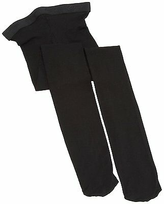 Girls' CAPEZIO HOLD & STRETCH DANCE TIGHTS Sz L Black Nylon Footed Ballet #N14C