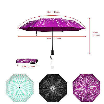 New automatic open close compact folding travel umbrella rain windproof stroller
