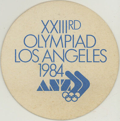 Vintage Coaster: Los Angeles Olympics, 1984. ANZ. Finance, Banking.