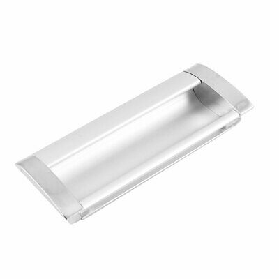 Silver Tone Uxcell Rectangle Flush Pull Handle Cupboard Drawer 42mmx78mm