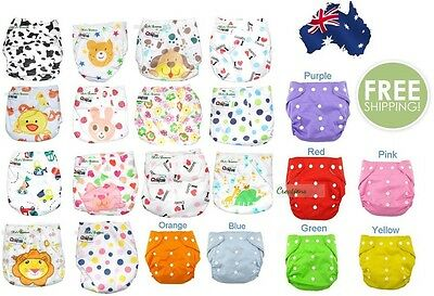 Baby Reusable cloth nappies + free insert liner washable, one size adjustable