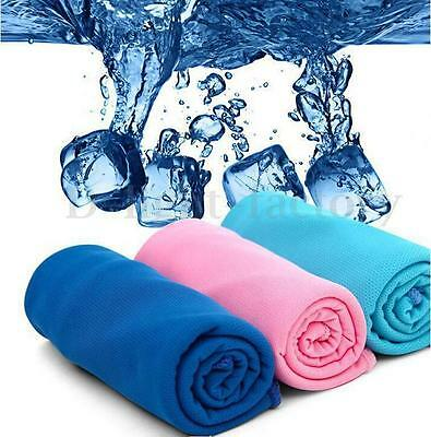 Ice Cold Cool Sports Cooling Towel Absorbing Summer Golf Jogging Leisure Gym Pad
