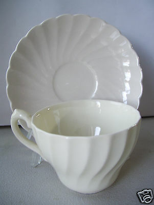 Myott Staffordshire OLDE CHELSEA WHITE Cup & Saucer Set More Pcs Available