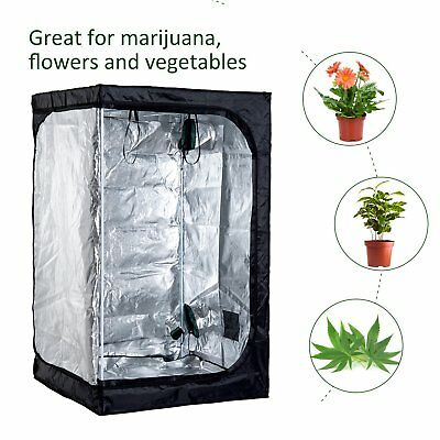 4' x 4' x 6.6' Oxford Mylar Hydroponics Grow Tent Reflective Room Grow Box