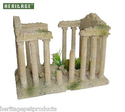 Heritage Fish Tank Aquarium Ornament Roman Ruins Columns Ancient Greek