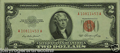 Lot Of (1) One 1953 Series $2 United States Note. AU / UNC. SN# A10811453A