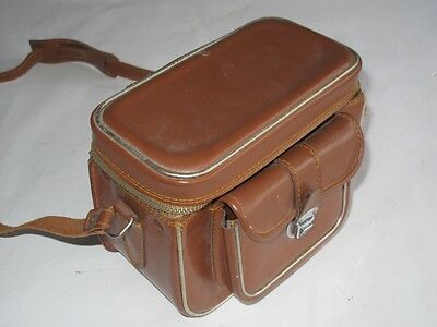 Vintage Brown Leather Camera Case. 1960s? Excellent Condition