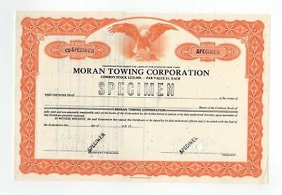SPECIMEN - Moran Towing Corpoation Stock Certificate
