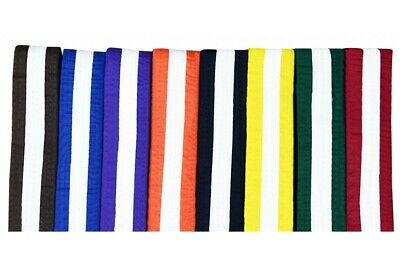 Cimac White Stripe Colour Karate Belt Martial Arts Judo 240cm 280cm Cotton