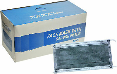 Face Mask with Carbon Filter - 50pk