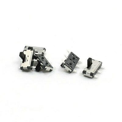 5pcs On/Off/On 6-Pin DPDT Vertical Mini SMD SMT Slide Power Switch 7x6x4mm