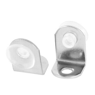 2 Pcs Alloy Holder Support Suction Cup Plates Silver Tone for Glass Shelf