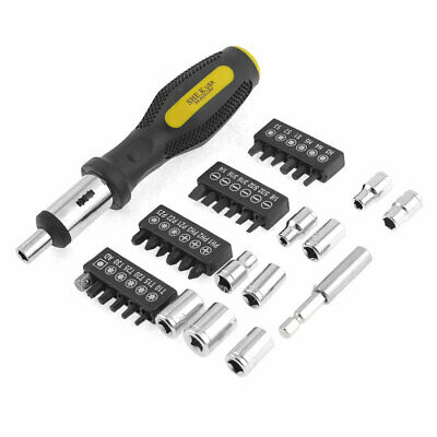 35 in 1 Slotted Phillips Torx Bits Hex Socket Square Black Yellow Screwdiver
