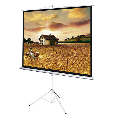 """Instahibit™ 100"""" 1:1 70"""" x 70"""" Manual Tripod Stand Projector Projection Screen"""