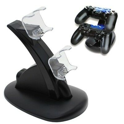 LED Dual USB Controller Charger Charging Stand Station Dock for PS4 Dualshock