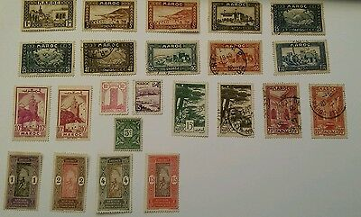 Northwest Africa - Morocco (FRENCH MARCO) / Afrique Occidentale Francaise STAMPS