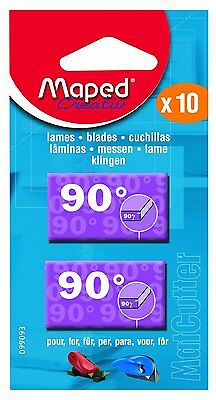 Maped Craft Hobby Mat Cutter Replacement Blades - 90 Degree - Pack Of 10 Blades