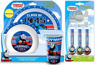 Thomas The Tank Engine 'Racing Friends' 6-Piece Dinner Set | Cutlery | Tableware