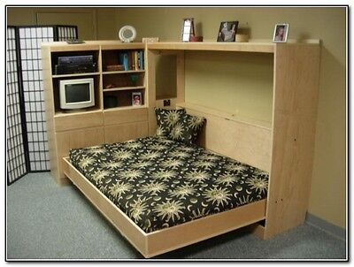 Build your own Queen Sized Horizontal Murphy Bed (DIY Plan) Fun to build!!