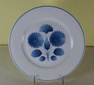 Limoges Hand-Painted Collector's Plate with Blue Decoration