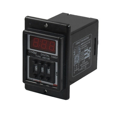 AC 220V 8 Pin DPDT 0.01-9.99 Second 9.99s Time Delay Relay Timer Black ASY-3D