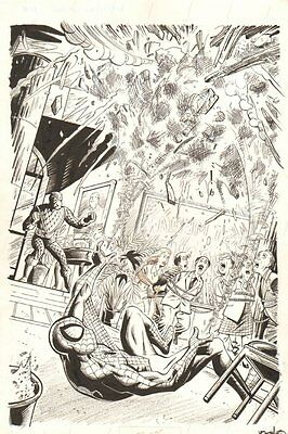 Sinister Six: You Are Spider-Man #1 Splash - Spidey vs The Shocker by Neil Vokes