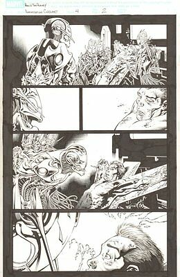 Annihilation Conquest #4 p.2 - Ultron and Star-Lord - 2008 art by Tom Raney