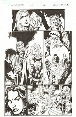 Fear Itself: The Fearless #3 p.18 Black Widow Valkyrie Shang Chi by Mark Bagley