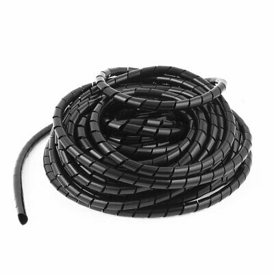 Spiral Tube Cable Wire Wrap Organizer Computer Cord Management 8mmx14m Black