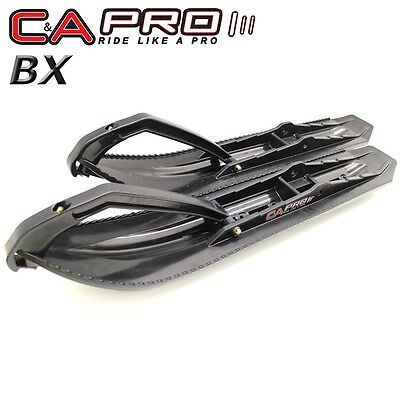 """C&A Pro - Boondocking Xtreme BX - 7 1/4"""" Black Skis with Black Loops - Pair"""