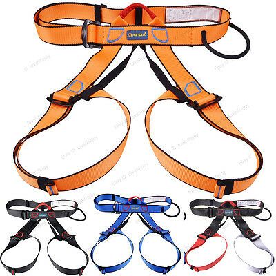 Outdoor Climbing Caving Safety Harness quickdraw Sit Waist Belt Safe Strap Tool