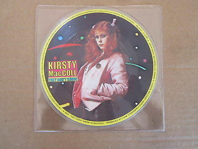 """KIRSTY MacCOLL They Don't Know / Motor On STIFF 7"""" RARE UK 1979 PICTURE DISC"""