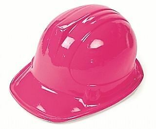 12 Economy Pink Plastic Construction or Builders Party Hats