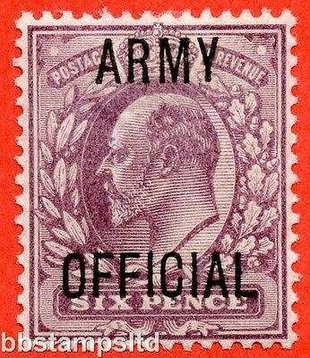 "SG. 050. MO21. 6d Pale dull purple. "" Army Official "". A fine mounted mint."