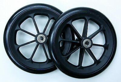 "Wheelchair Transporter Parts 8"" Front Caster Wheel 7/16"" C81B-716-SP8 2 pcs NEW"