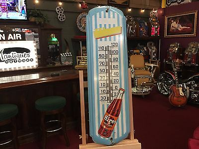 "HIRES Root BEER Thermometer Tin Sign 8"" x 28""  See Video"