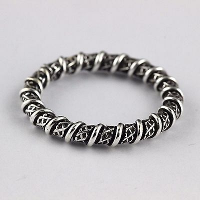 Womens Mens 925 Sterling Silver Spinner Bali Engagement Wedding Band Ring Twined