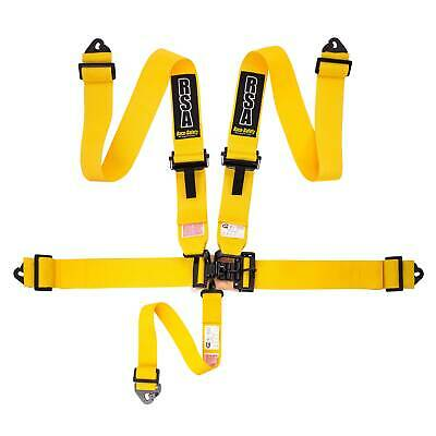 "RSA 3"" 5 Point NASCAR Style Brisca Oval Autograss Safety Harness - Yellow"